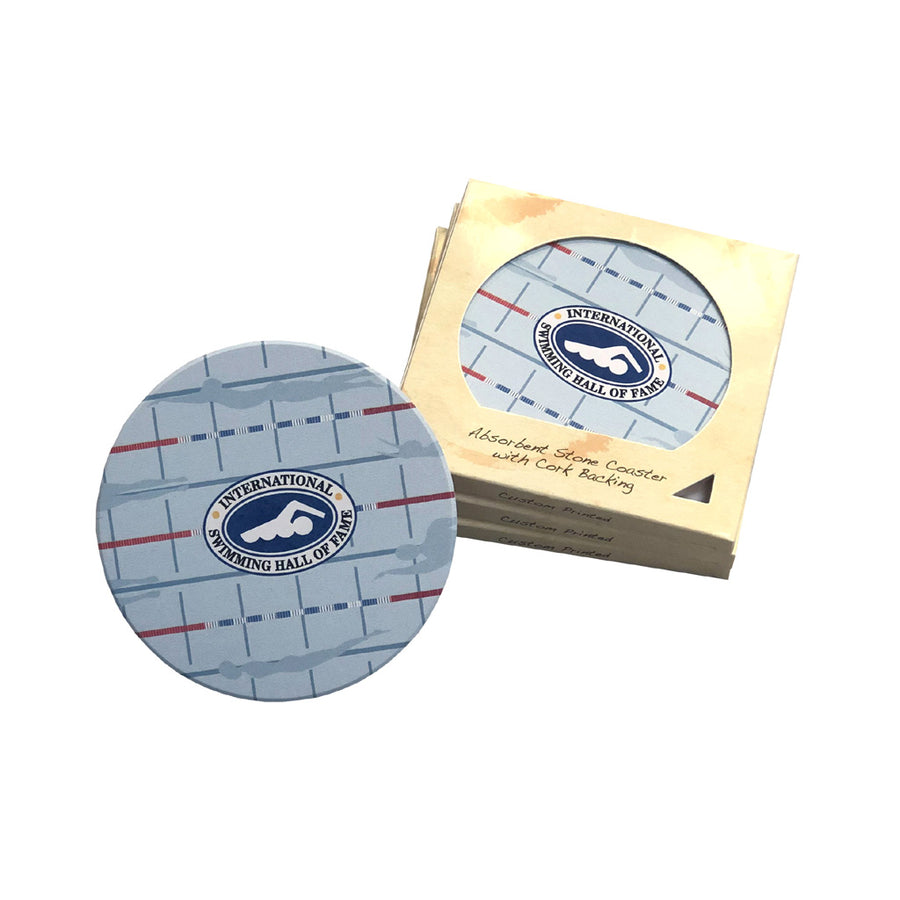 Hall of Fame Lane Lines Stone Coaster