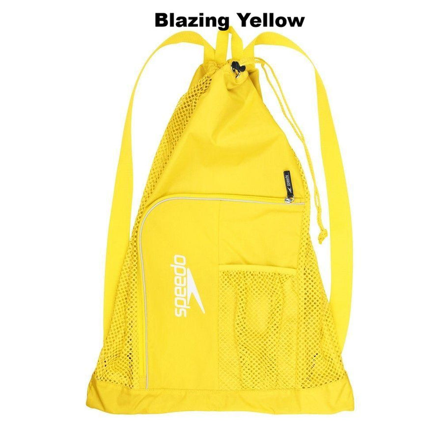 Speedo Deluxe Ventilator Mesh Bag ISHOF Swimming Hall of Fame Swimming World yellow