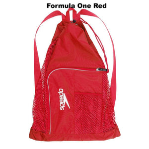 Speedo Deluxe Ventilator Mesh Bag ISHOF Swimming Hall of Fame Swimming World red