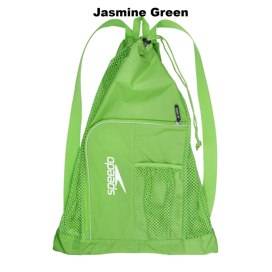 Speedo Deluxe Ventilator Mesh Bag ISHOF Swimming Hall of Fame Swimming World green