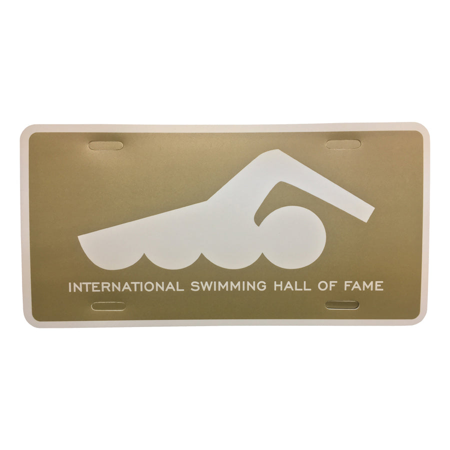 ISHOF Swimmer Plastic License Plate