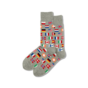 Men's World Flags Crew Socks