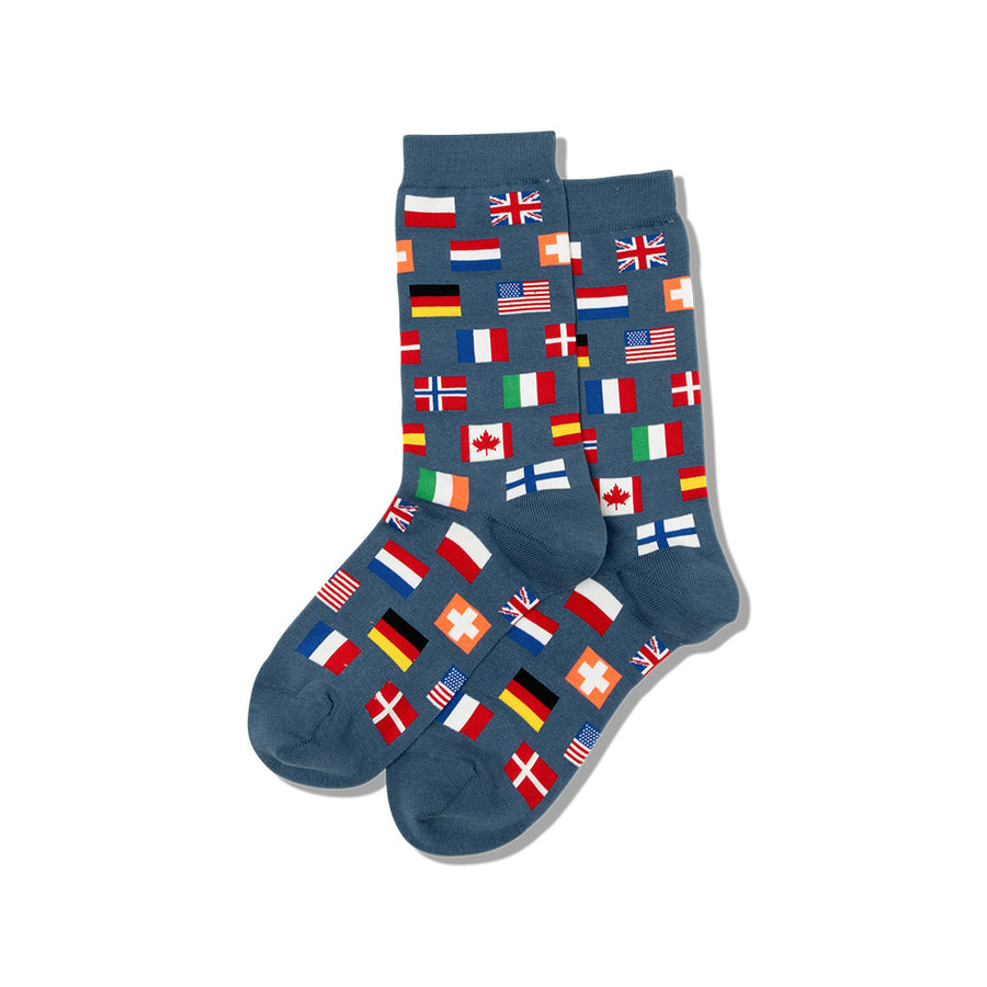 Women's World Flags Crew Socks