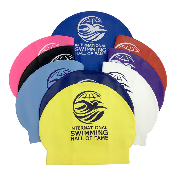 Swimming Hall of Fame Latex Swim Cap
