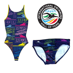 Official Women's Swimming Hall of Fame 1 Piece Pro Racer Swimsuit