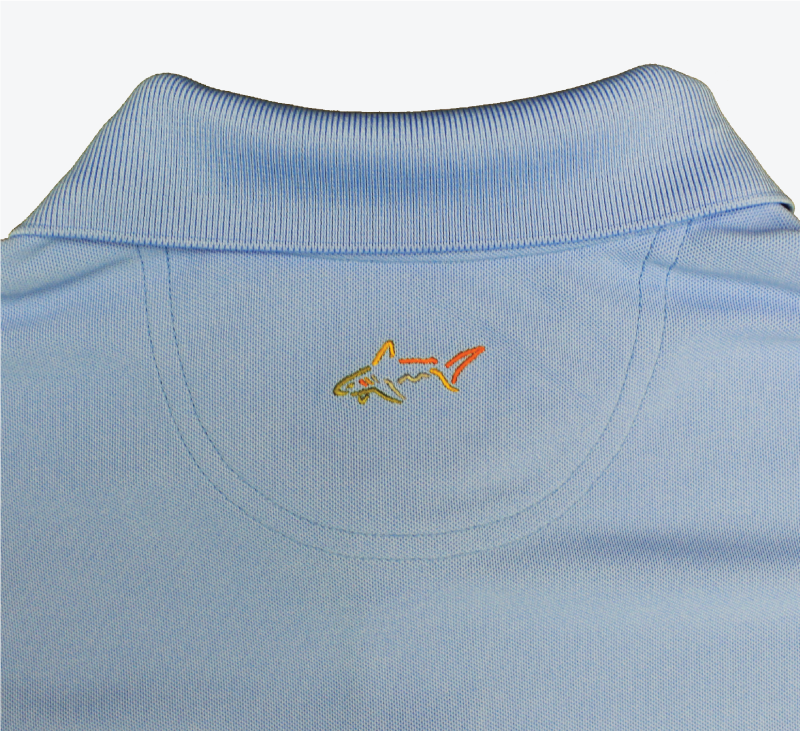 greg norman swimming hall of fame ishof logo polo shirt back side