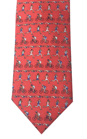 Silk Triathlon Tie ISHOF Swimming Hall of Fame Swimming World