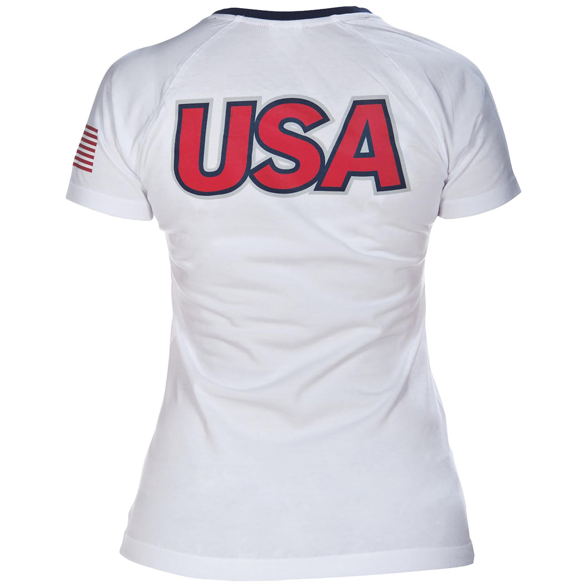 13e68c64 Official USA Swimming National Team Women's V-Neck Tee Shirt –  International Swimming Hall of Fame