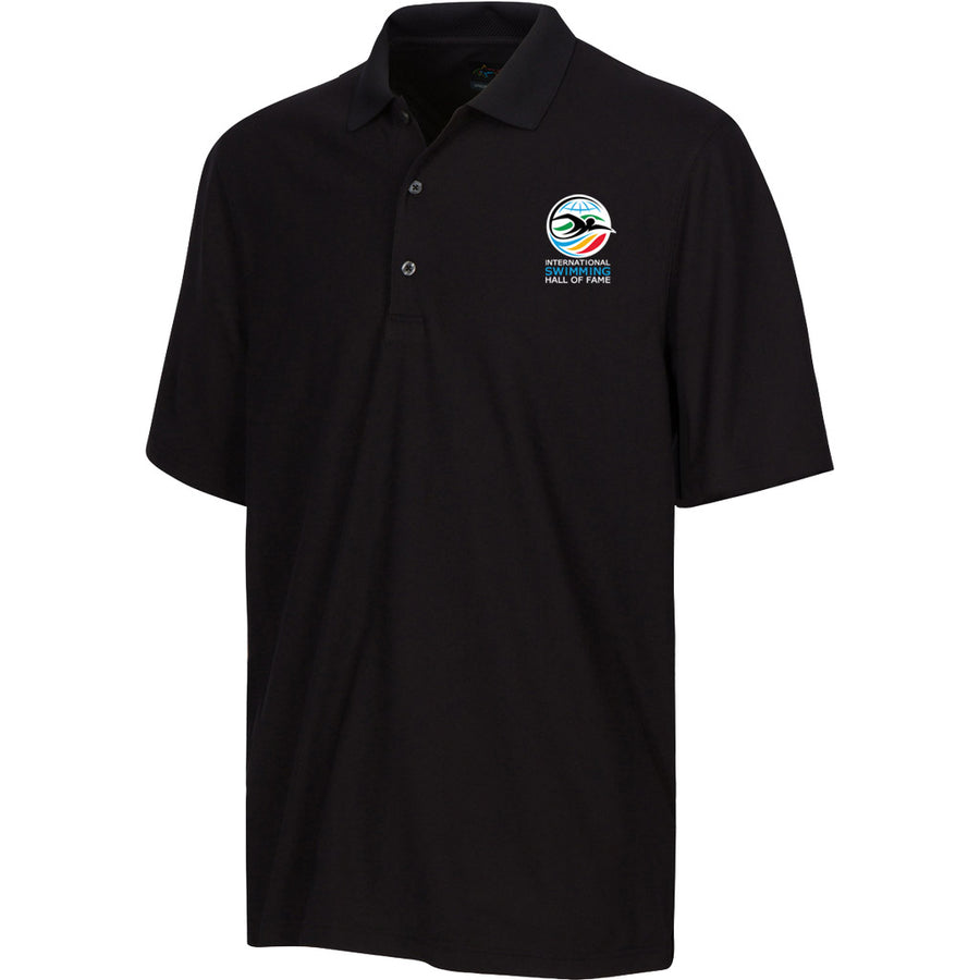 greg norman swimming hall of fame ishof logo polo shirt black