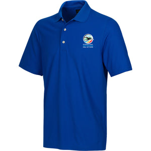 greg norman swimming hall of fame ishof logo polo shirt blue