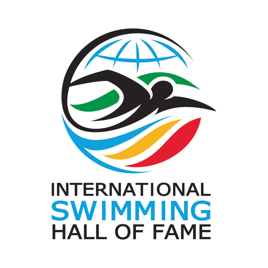 New Logo ISHOF Sticker Vertical ISHOF Swimming Hall of Fame Swimming World