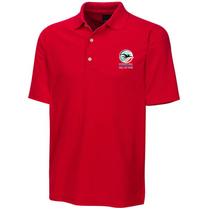 greg norman swimming hall of fame ishof logo polo shirt red