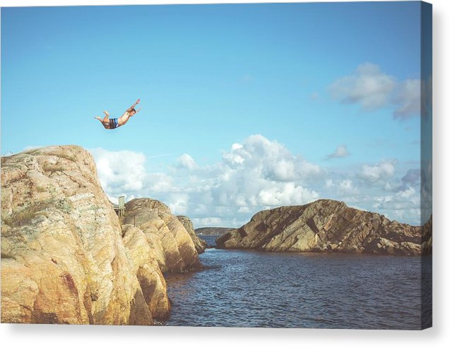 Rock Jumper - Canvas Print