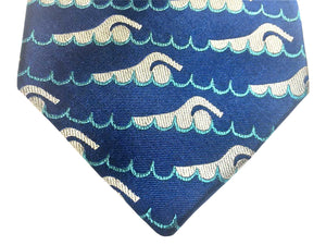 Swimmer Silk Tie ISHOF Swimming Hall of Fame Swimming World