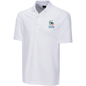 greg norman swimming hall of fame ishof logo polo shirt white