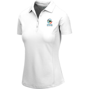 Women's Embroidered Greg Norman Polo Shirt ISHOF Swimming Hall of Fame Swimming World