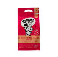 Meowing Heads Salmon Dry Cat Food