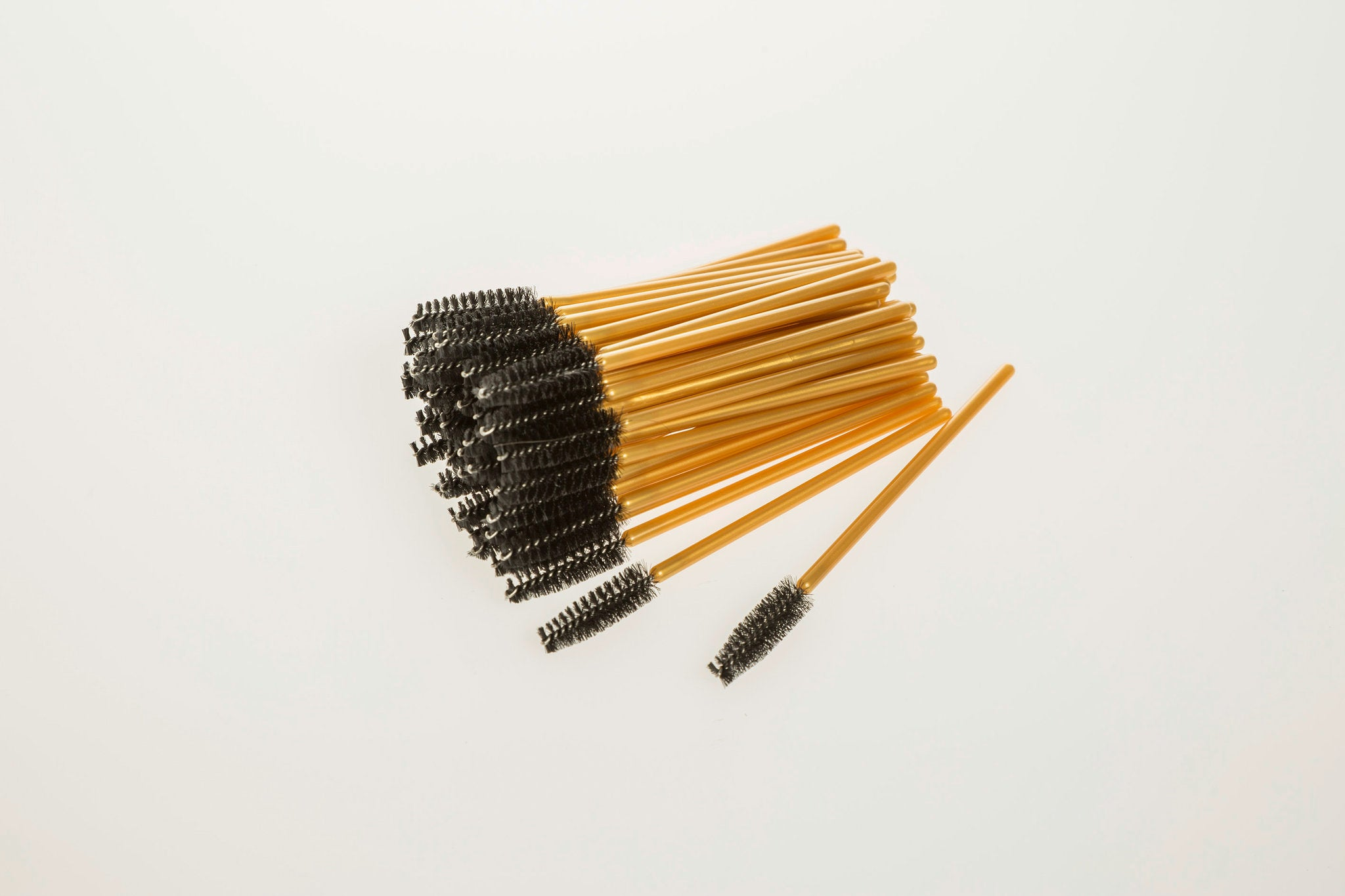 Gold Lash Brushes Pack of 50 - Prestige Lash Art