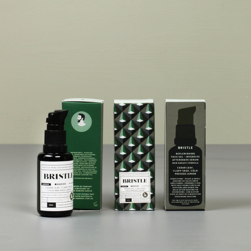 REPLENISHING FACE GEL (INTENSIVE AFTERSHAVE SERUM) - BRISTLE