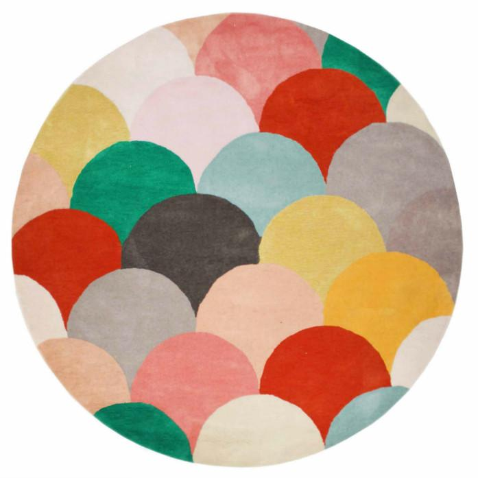 MACAROONS MIAMI HAND TUFTED RUG (All-ware) ROUND 200cm
