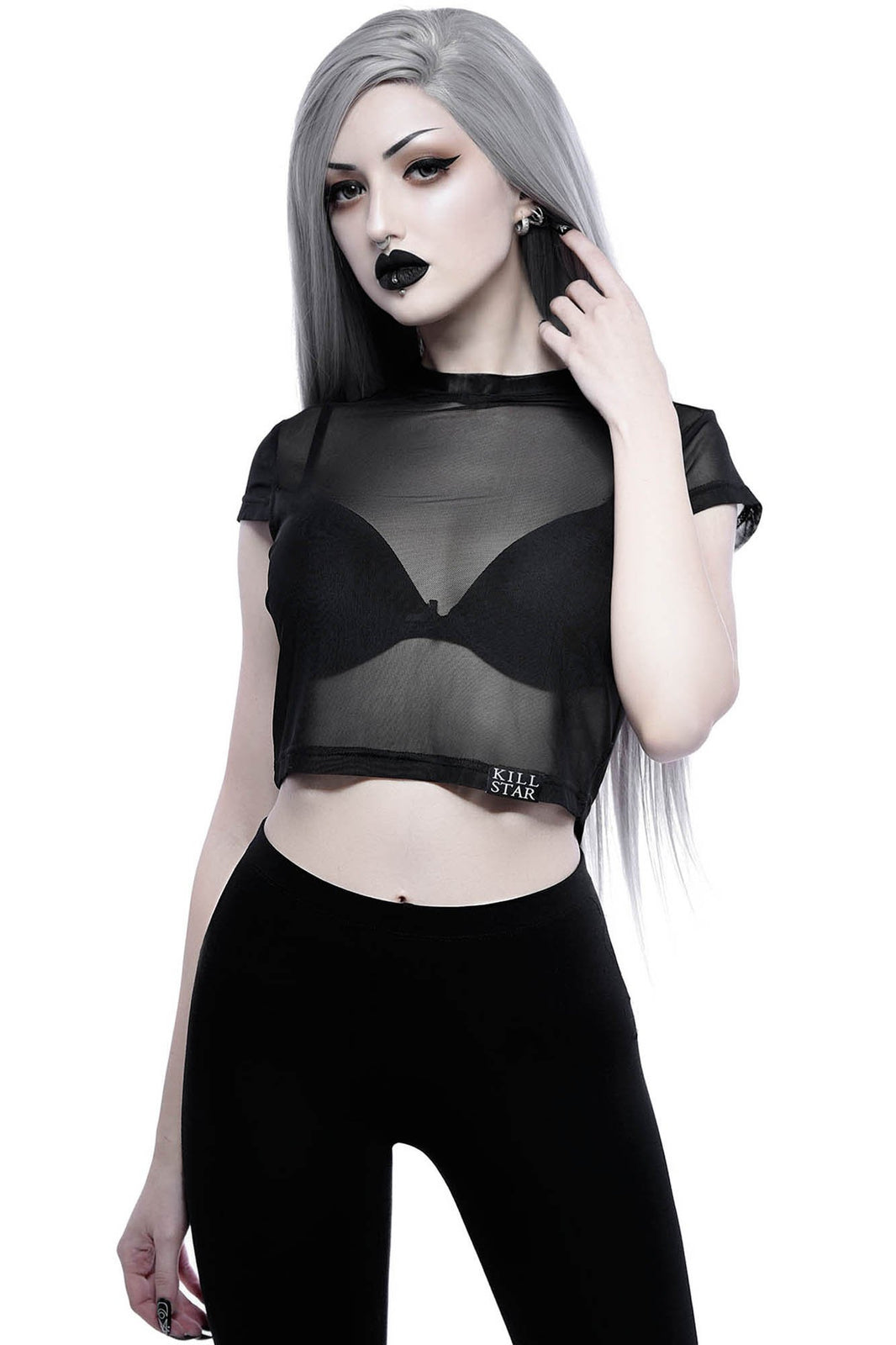 All Seeing Mesh Crop Top