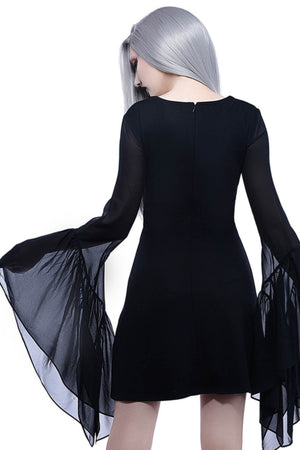 Black Veil Chiffon Dress