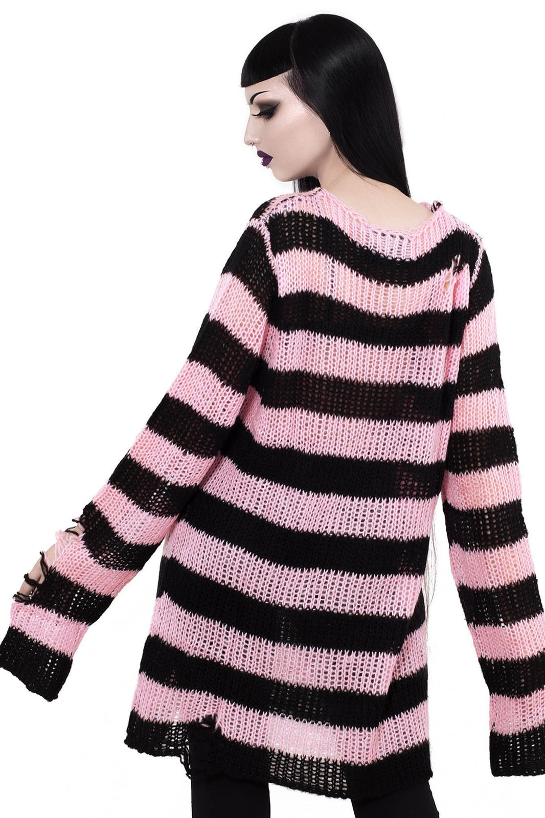 Courtney Distress Knit Sweater [B]