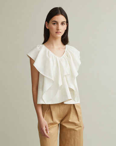SHADA RUFFLE BLOUSE