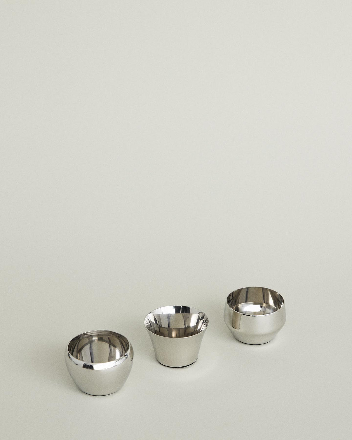 Kin Candle Holder 3-Pack: Silver