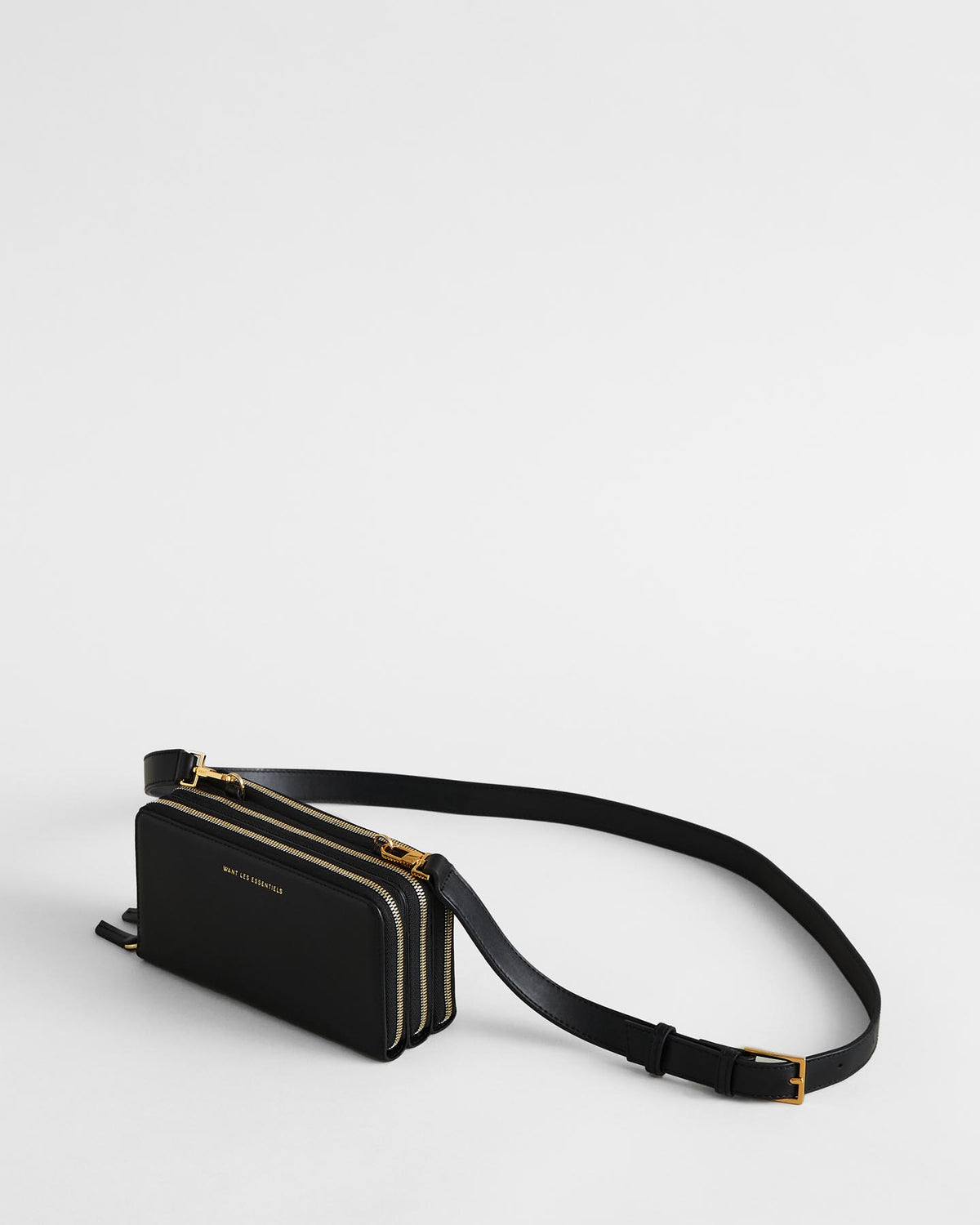 Petra Leather Zip Crossbody Bag