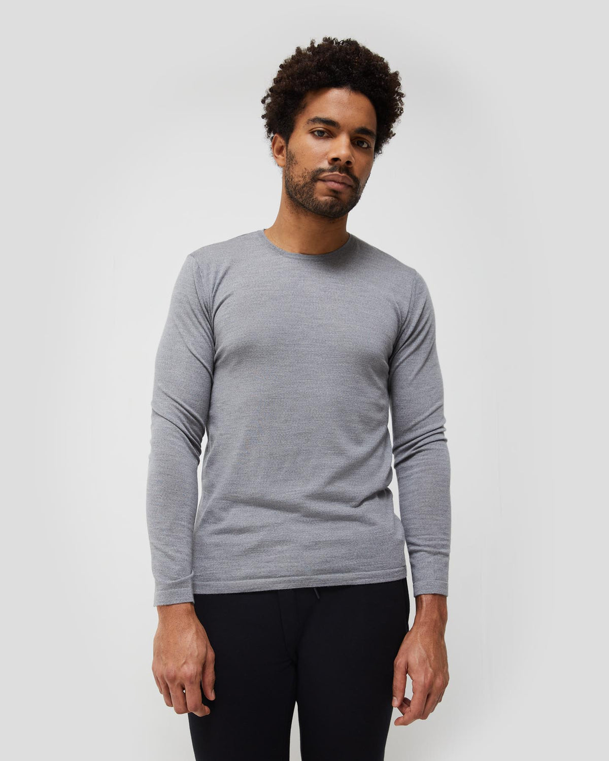 Agostino 2.0 Long Sleeve Wool Cashmere Blend Unisex T-Shirt