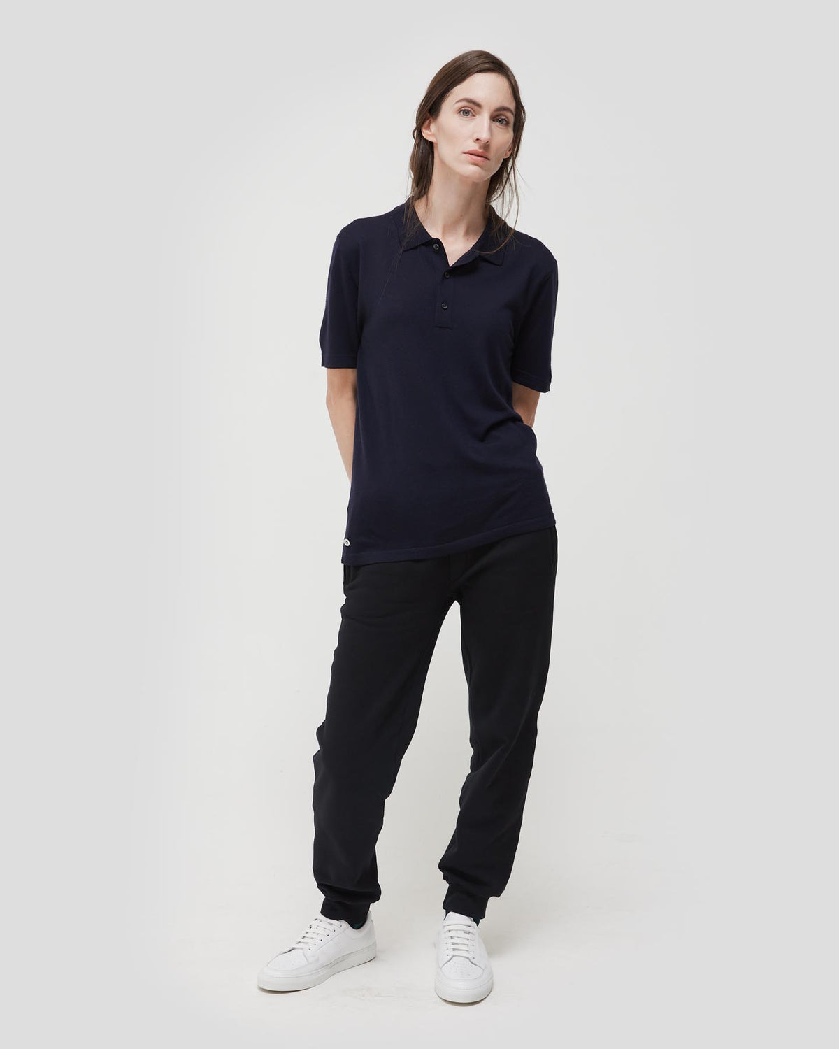 Loreto 2.0 Short Sleeve Wool and Cashmere Unisex Polo Shirt