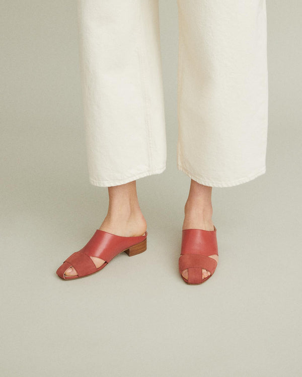 Wren Leather Slide Sandal