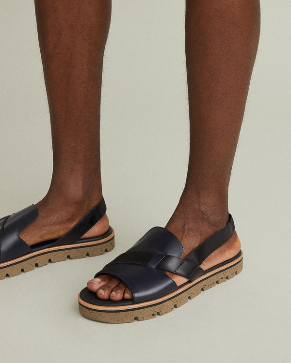 Lanzarote Leather Lugged Sling Back Sandal