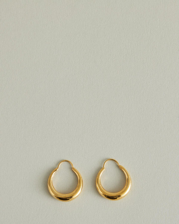 Fat Baby Snake Earrings Polished Gold