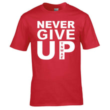 Load image into Gallery viewer, Never Give Up Mens Tee