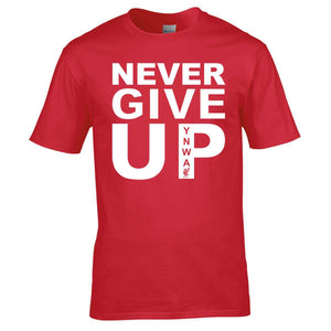 Never Give Up Mens Tee