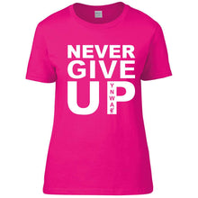 Load image into Gallery viewer, Never Give Up Womens Tee