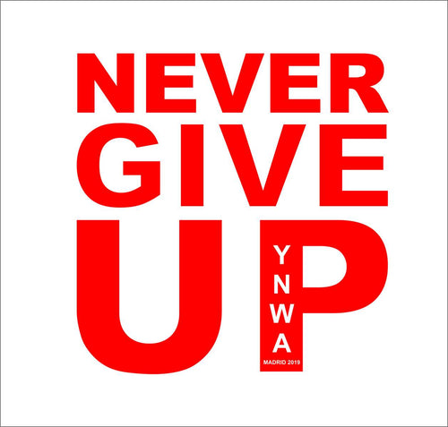 Never Give Up Mens Madrid Tee