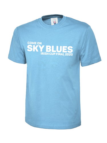 Adult Ballymena Utd Irish Cup Final Sky Blue Tee