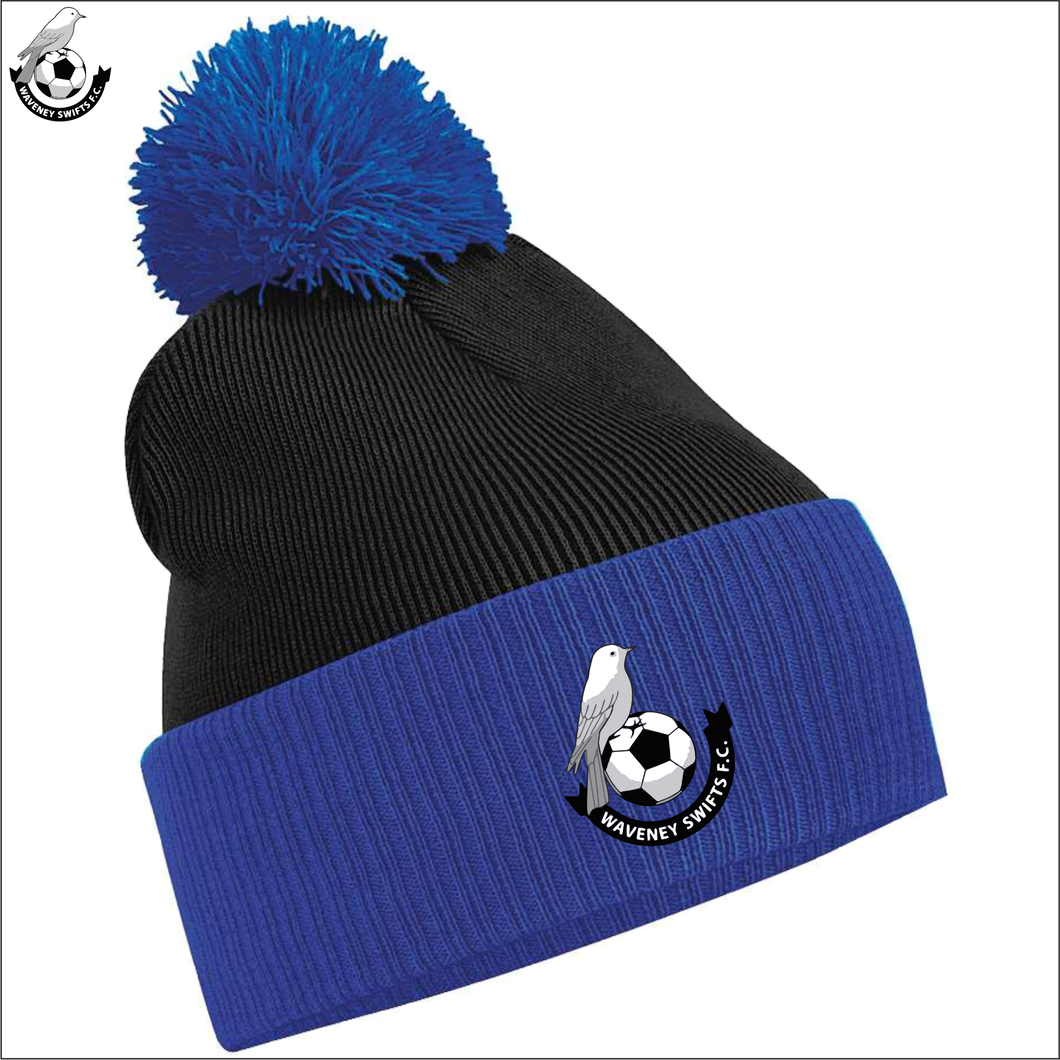 Waveney Swifts Two-Tone Bobble Hat