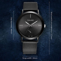 Luxury Men Watches Daily Waterproof Business men watch Stainless Steel Mesh belt quartz Casual wrist watches montre homme