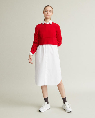 Worsted Wool Cropped Sweater