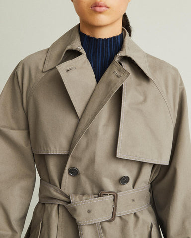 brushed cotton trench