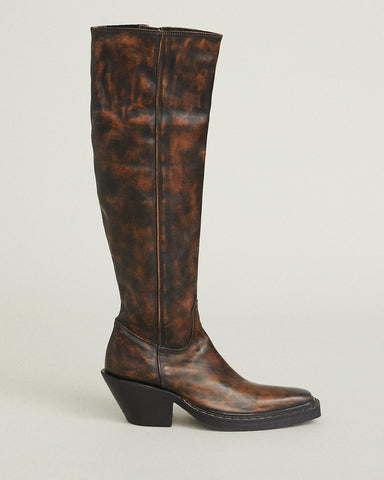 distressed-leather-western-boots