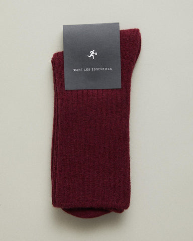 leslie ribbed ankle socks