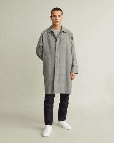 Original Check Bal Collar Coat