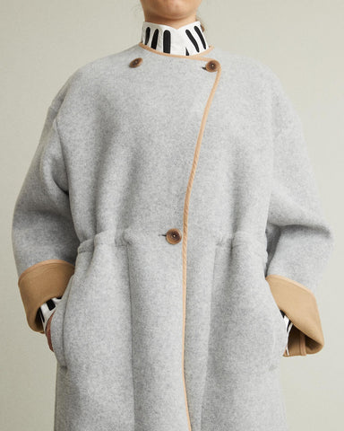Tencha Oversized Wool Blend Coat