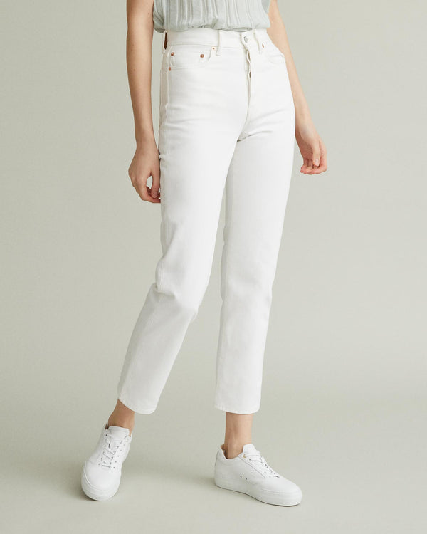 Mece Snow High-Rise Cropped Jeans