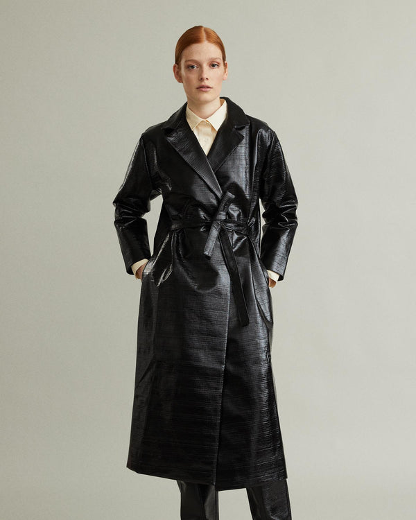 Mira Lacquer Trench Coat